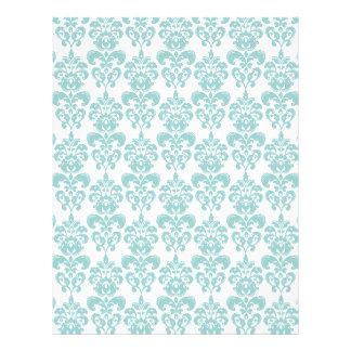 Blue and White Vintage Damask Pattern 2 21.5 Cm X 28 Cm Flyer