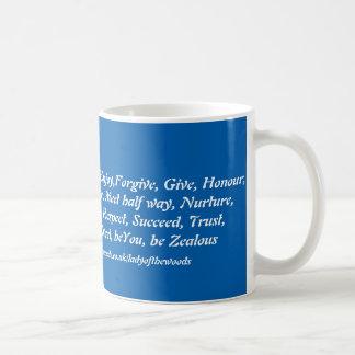 Blue and White  virtues mug