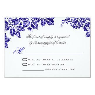 blue and white wedding rsvp cards 9 cm x 13 cm invitation card