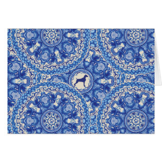 BLUE AND WHITE WEIM BLANK CARD