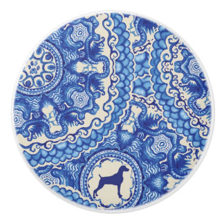 BLUE AND WHITE WEIM CERAMIC KNOB