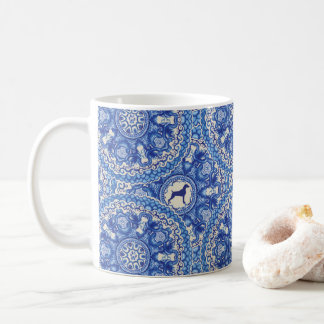 BLUE AND WHITE WEIM COFFEE MUG 11oz BY BLU WEIM