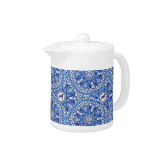 BLUE AND WHITE WEIM SMALL TEAPOT BY BLU WEIM