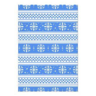 Blue And White Winter Snowflake Pattern Photographic Print