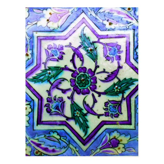 Blue and White with hints of Purple Iznik