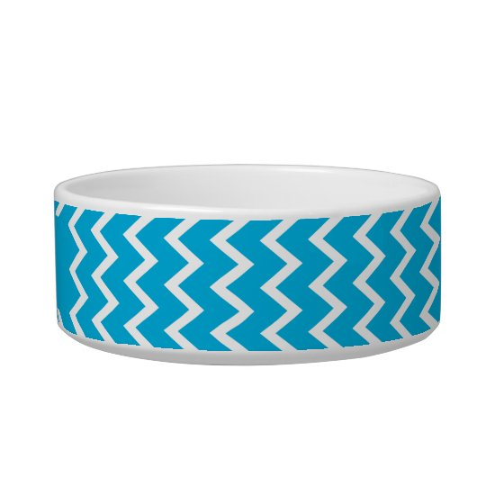 Blue and White Zigzag Pattern Bowl
