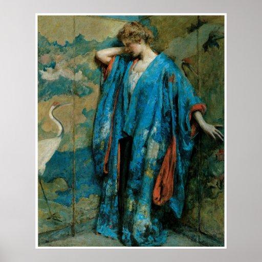 Blue and Yellow, 1910, Robert Reid Poster