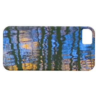 Blue and Yellow Abstract Water Reflections Case For The iPhone 5