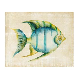 Blue and Yellow Aquarium Fish Acrylic Wall Art