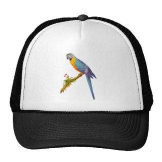 Blue and Yellow Are, Vintage Illustration Trucker Hat