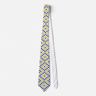 Blue and Yellow Basketball Pattern Tie