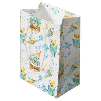 Blue and Yellow Birthday Gift Bag