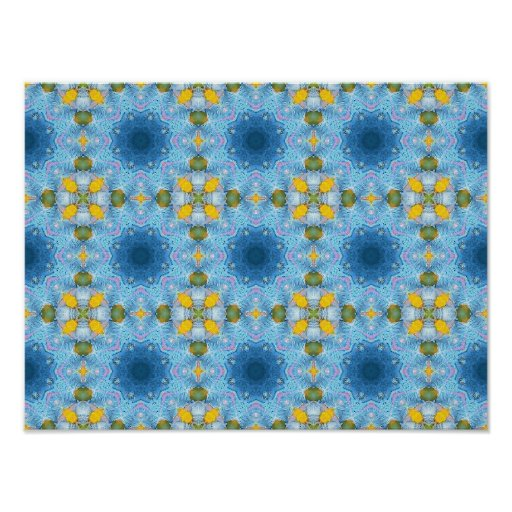 """Blue and yellow bright poster print (16"""" x"""