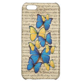 Blue and yellow butterrflies iPhone 5C case
