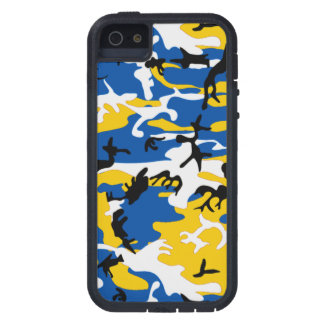 Blue and Yellow Camo iPhone 5 Cover