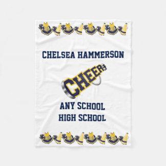 Blue and Yellow Cheer Fleece Blanket