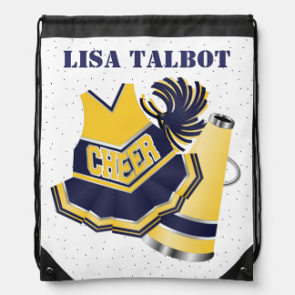 Blue and Yellow Cheerleader Backpack