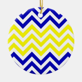 Blue and Yellow Chevrons Pattern ornament