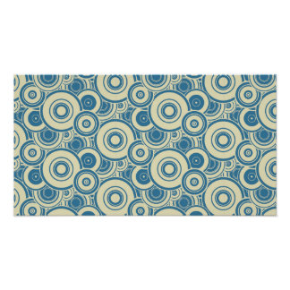 Blue and Yellow Circles Poster