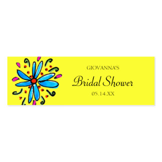 Blue and Yellow Floral Gift Tags Business Card