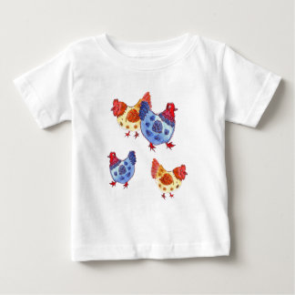 blue and yellow hens several baby T-Shirt