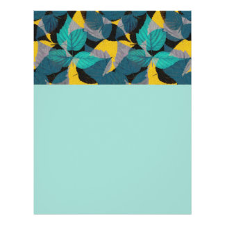 Blue And Yellow Leaf Pattern 21.5 Cm X 28 Cm Flyer