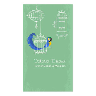 Blue-and-yellow Macaw Business Card Templates