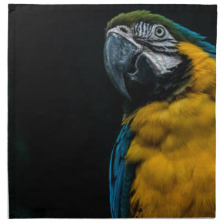 blue and yellow Macaw Napkin