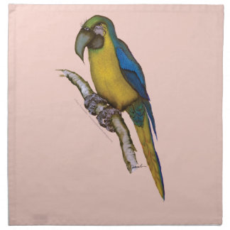 blue-and-yellow macaw, tony fernandes.tif printed napkin