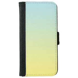 """""""Blue And Yellow Ombre"""" iPhone 6 Wallet Case"""