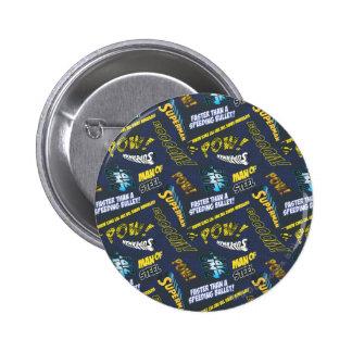 Blue and Yellow Pow! 6 Cm Round Badge