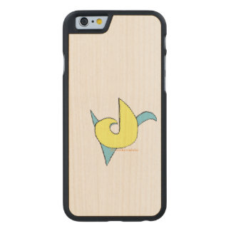 blue and yellow retro music note design carved® maple iPhone 6 slim case