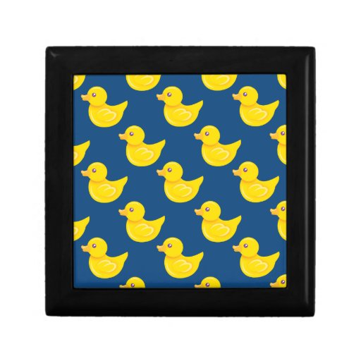Blue and Yellow Rubber Duck, Ducky Jewelry Box