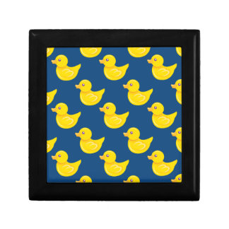 Blue and Yellow Rubber Duck, Ducky Small Square Gift Box