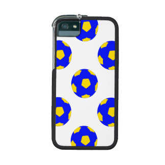 Blue and Yellow Soccer Ball Pattern iPhone 5/5S Cases