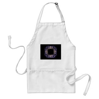 Blue and Yellow Sparkling Fractal Art Frame Aprons