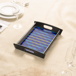 Blue and Yellow Stripes Serving Tray