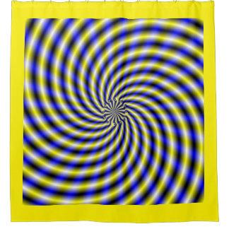 Blue and Yellow Swirl Shower Curtain