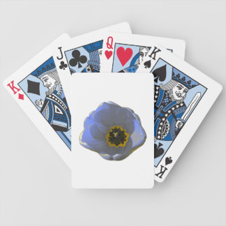 Blue and Yellow Tulip Playing Cards