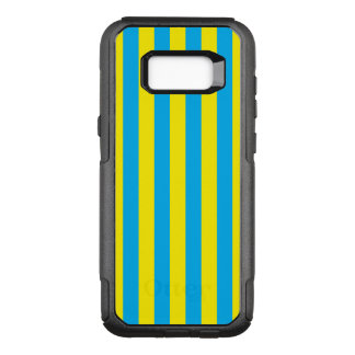 Blue and Yellow Vertical Stripes OtterBox Commuter Samsung Galaxy S8+ Case