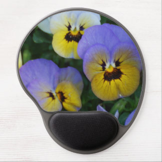 Blue and Yellow Violas Gel Mouse Mat