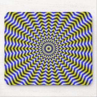 Blue and Yellow Zigzag Ripples Mousepad