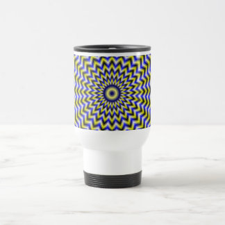 Blue and Yellow Zigzag Ripples Mug