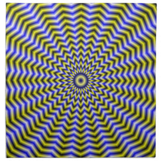 Blue and Yellow Zigzag Ripples Napkins