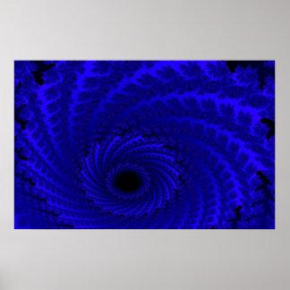 Blue Andromeda Galaxy Art Canvas or Print