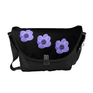 Blue Anemone Messenger Bag