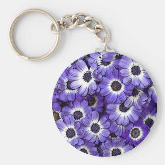 Blue Anemones Keychain