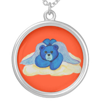Blue Angel Bear Necklace