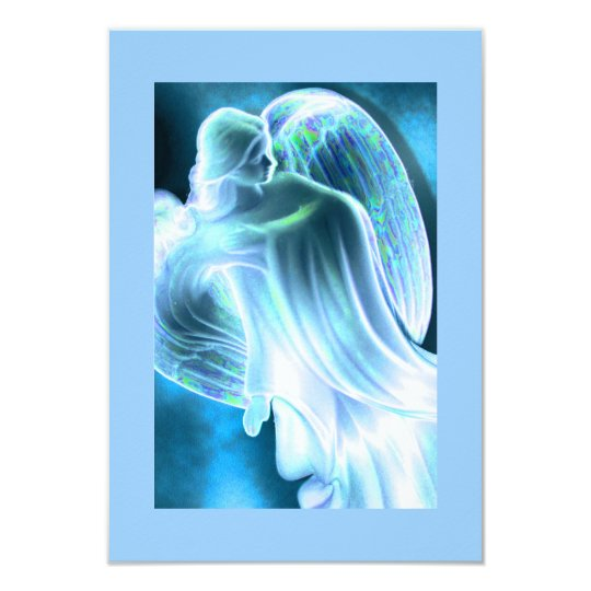 Blue Angel Comforting Prayer Card