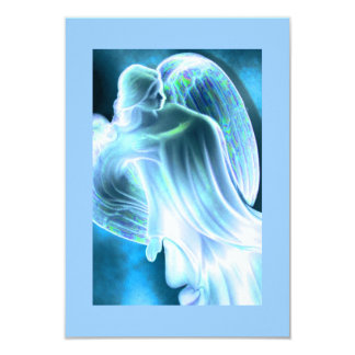 Blue Angel Comforting Prayer Card 9 Cm X 13 Cm Invitation Card